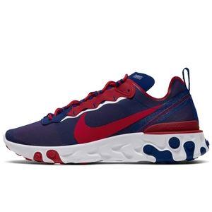 New York Giants Nike React Element 55 Shoes Royal